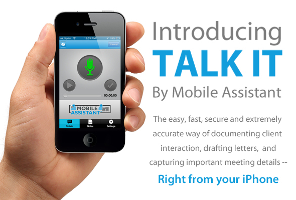 voice texting on iphone mobile assistant launches iphone app talk it a high 16430